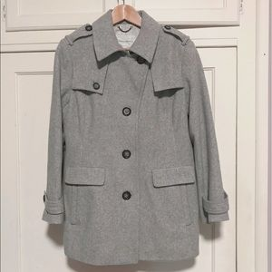 Banana Republic Wool Blend Short Trench Coat